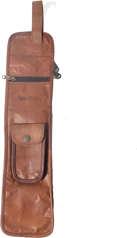 WerKens Leather Dallas Mall Drumstick Bag Floor Tom San Antonio Mall Dr Hooks Pairs 4-5 Holds
