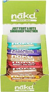 Nakd Fruit & Nut Bar Trial Pack - 12 Raw, Cold-Pressed Bars (Gluten Free, Dairy Free, Soy Free, Vegan, Paleo Friendly)