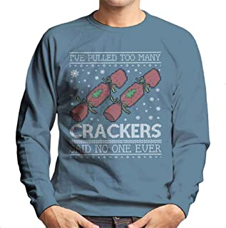 Coto7 Ive Pulled Too Many Crackers Said No One Ever Christmas Knit Pattern Men's Sweatshirt