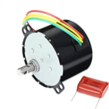 uxcell Synchronous Motor AC 110V 60Hz 6W 3.3/3.96RPM Output Speed Reduction Geared Box