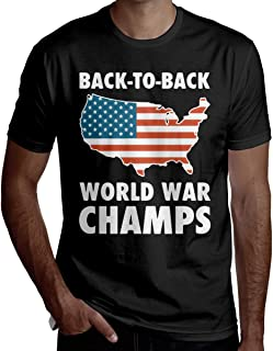 Men's Back to Back World War Champs Summer Short Sleeve Tshirts