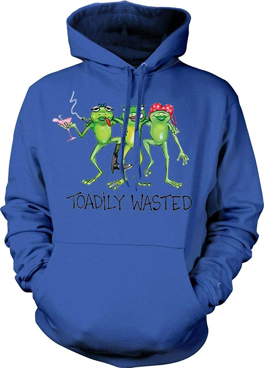 TeesYA Toadily All stores are sold New products, world's highest quality popular! Wasted Bachelorette Party Hoodie Frog Funny Women