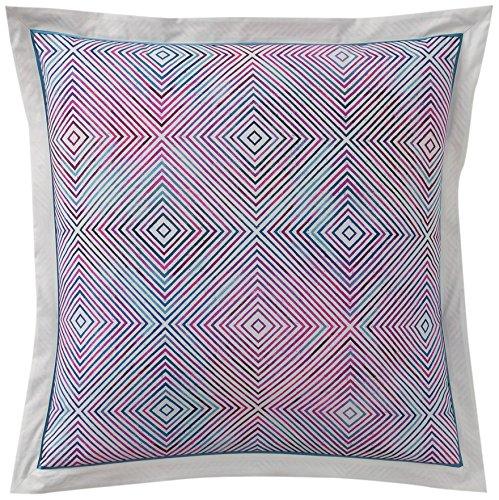 Anne de Solene Graphic Taie d'Oreiller Coton Violet 65 x 65 cm