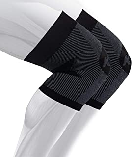 OS1st KS7 Knee Brace (Two Sleeves) stabilizes The Patella,  Provides Injury Recovery and relieves Knee Pain from Runners Knee,  Jumpers Knee,  Arthritis Pain & patellar tendonitis (Black,  Medium)