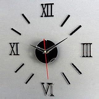 Room Wall Living Powered Numerals DIY etc Quartz Unassembled Stickers Clock Decor Clock Home Battery Mirror