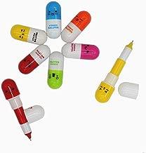 SWTool Selling Wonderful 40pcs Vitamin Pill Ballpoint Pen Cute Cartoon Retractable Ball Pen Smiling Face Ball Pen For Kids (Random Color)