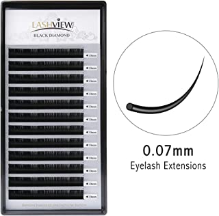 Lashview 3D Volume Eyelash Extensions 0.07 C 10mm Individual Semi-permanent False Eye Lashes Salon Use Professionl Makeups Black