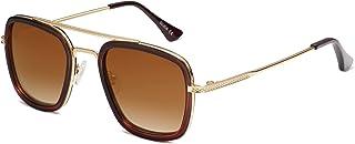 نظارات شمسية هيرو بتصميم كلاسيكي رترو واطار افياتور مربع معدني وعدسات مستقطبة للجنسين من سوجوس - SJ1126