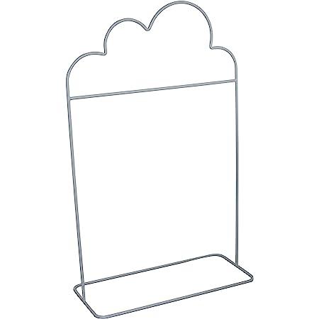 Box and Beyond Portant à vêtements pour Enfant en métal - Forme de Nuage - 1 Barre de penderie - Gris Nuage - 132x81x36cm