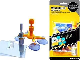 Quick Fix Windshield Repair Kit, Windscreen Windshield Repair tool Set for Chips and Cracks, Bulls-Eye, Spider Web, Star-S...