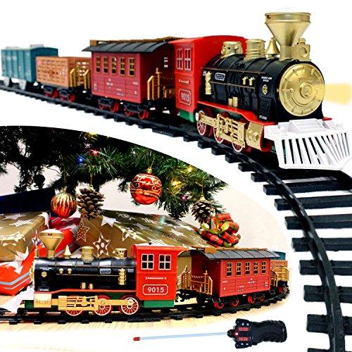 JOYIN Express Christmas Train Set with Remote Control,...