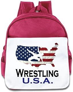 Hello-Robott USA Wrestling Logo School Bag Backpack RoyalBlue