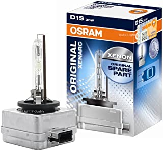 OSRAM XENARC OEM 43000K D1S HID/XENON Headlight bulb (66144) by ALI - Made in Germany (Pack of 1)