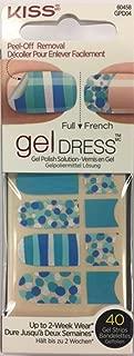 Kiss Gel Dress Full/French 40 Strips - Seaside