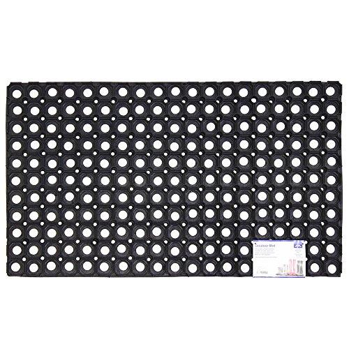 JVL Rondo - Alfombrilla de Goma para Puerta (50 x 100 cm), Color Negro