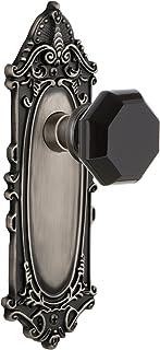 مقبض باب أسود من البرونز 721295 بتصميم ممر لوحة فيكتوريان والدورف من إنتيك بوتر، 2.375