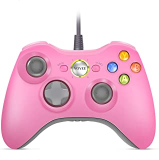 VOYEE Wired Controller for Microsoft Xbox 360 & Slim/PC Windows 10 8 7 | Upgraded (Pink)