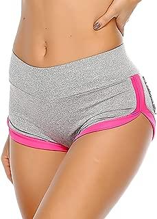 SEASUM Women Sports Short Scrunch Butt Pants Gym Running Jogging Girl Summer Casual Yoga Short Leggings High Waisted
