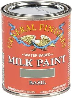 General Finishes PBA Water Based Milk Paint, 1 Pint, Basil