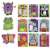Assorted 3d誕生日カードfor Kidsボックスセット、9パックカードセットAssortment for Children–Boys & Girls