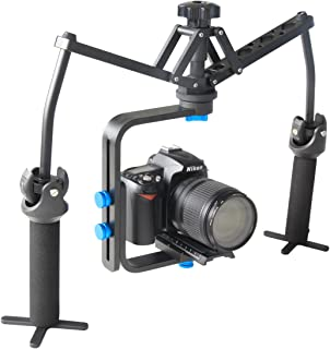 YaeCCC Aluminum Alloy Joint Bearing Portable Handhold Mechanical Stabilizer Compatible with Canon Nikon Sony Other DSLR Cameras, DV Recorders, Camcorders up to 13 pounds/6 kilograms
