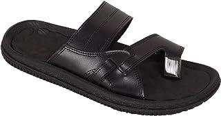 BATA Men Black Formal Slip On Soft Chappal Sandal