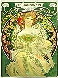 Poster 50 x 70 cm: Obraz grün von Alfons Mucha/akg-Images