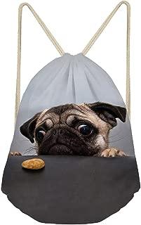 Funny Pugs Dog Soft Cinch Gym Bags Organizer Fitness Drawstring Bag