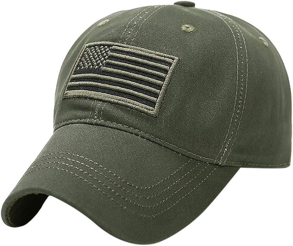 YYCHUN Adult's Baseball Caps, American Flag Dad Hats, Camouflage Trucker Hats Sun Protection Outdoor Sport Hats