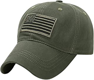 Swyss Unisex Camouflage Casual Hat Trucker Special Tactical Operator Forces USA Flag Patch Baseball Cap