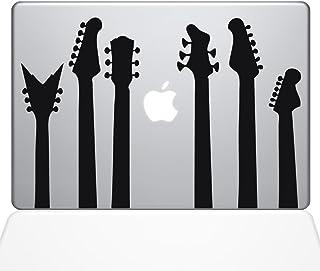 "The Decal Guru Guitar Band Decal Vinyl Sticker, 12"" MacBook, Black (1416-MAC-12M-BLA)"