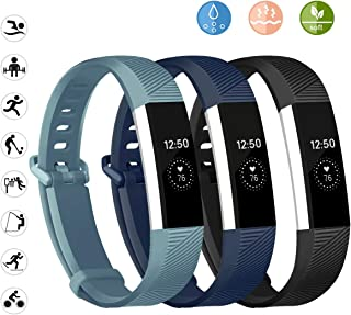 Wekin Replacement Bands Compatible for Alta and Alta HR, Breathable Woman Men Adjustable Strap Wristbands Bracelets with Secure Buckle for Smartwatch Tracker Small Large