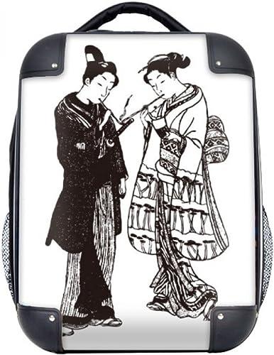 DIYthinker Japon Sketch Style Japonais Art Hard Case épaule enfants Sac à dos de transport 15  cadeau