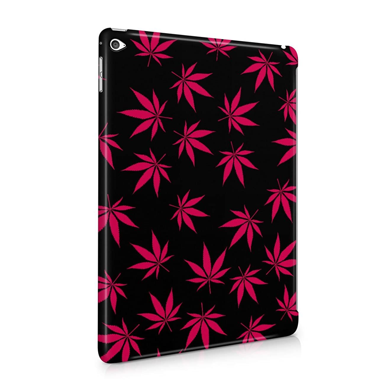 Weed Marijuana Leaf Crimson Pink Haze Pattern Plastic Tablet Snap On Back Case Cover Shell For iPad Air 2