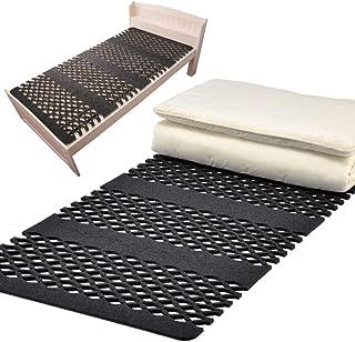 (テイジン) すのこ型吸湿マット 除湿マット 備長炭 ベッド対応タイプ(シングル) エアジョブ 除湿シート 防ダニ抗菌防臭わた+オーミケンシ紀州備長炭 エアジョブ (TJI-478s) (ベッド対応シングル) すのこ スノコ ベッド