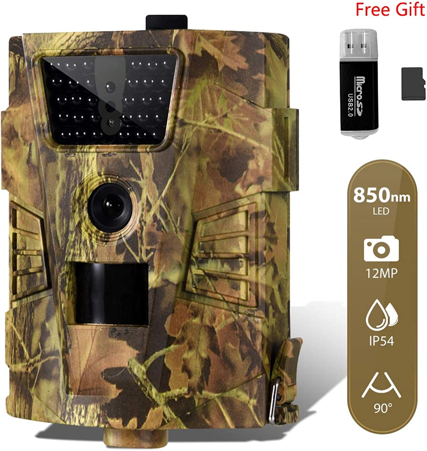CAMVILD Trail Game Camera, Ultralight Wildlife Camera 1080P HD Hunting Camera with Motion Activated, No Glow Night Vision Up to 100ft, Tail Camera Support 32G