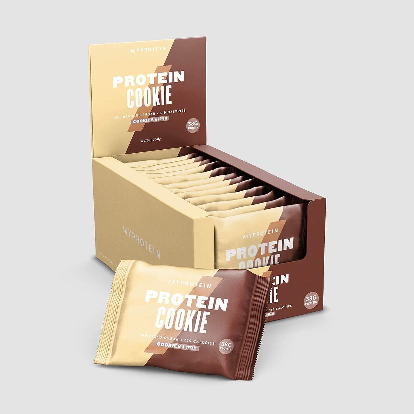 ランタン弁護人温度計MYPROTEIN プロテインクッキー 75g×12枚入り (クッキー&クリーム)