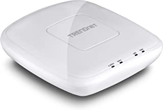 TRENDnet AC1750 Dual Band PoE Access Point, 1300Mbps WiFi AC+450 Mbps WiFi N, WDS Bridge, WDS Station, Repeater Modes, Band Steering, WiFi Traffic Shaping, Up to 8 SSIDs-16 Total, IPv6, TEW-825DAP (Re