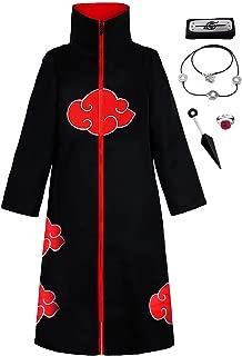 Unisex Long Ninja Robe Akatsuki Cloak Halloween Cosplay Costume Uniform