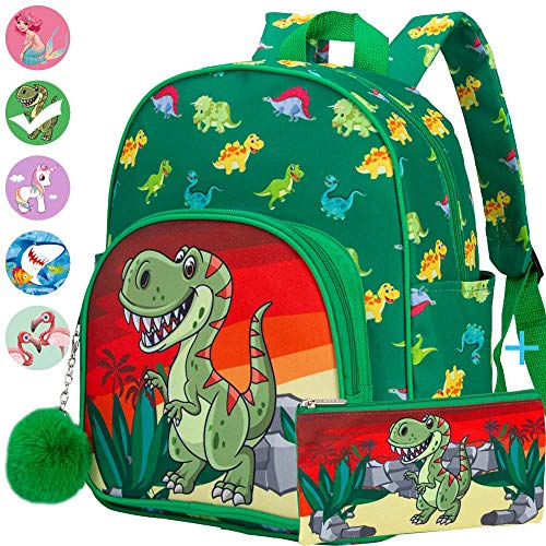 Toddler Backpack, 12.5' Preschool Bag for Boys