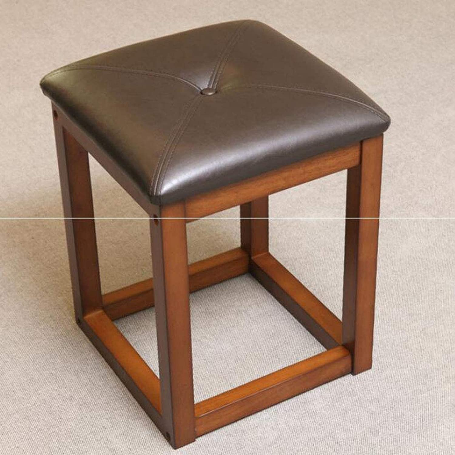 SYFO Household Solid Wood Chair, All Solid Wood Dressing Stool, Table Square Stool, Creative shoes Bench Stool