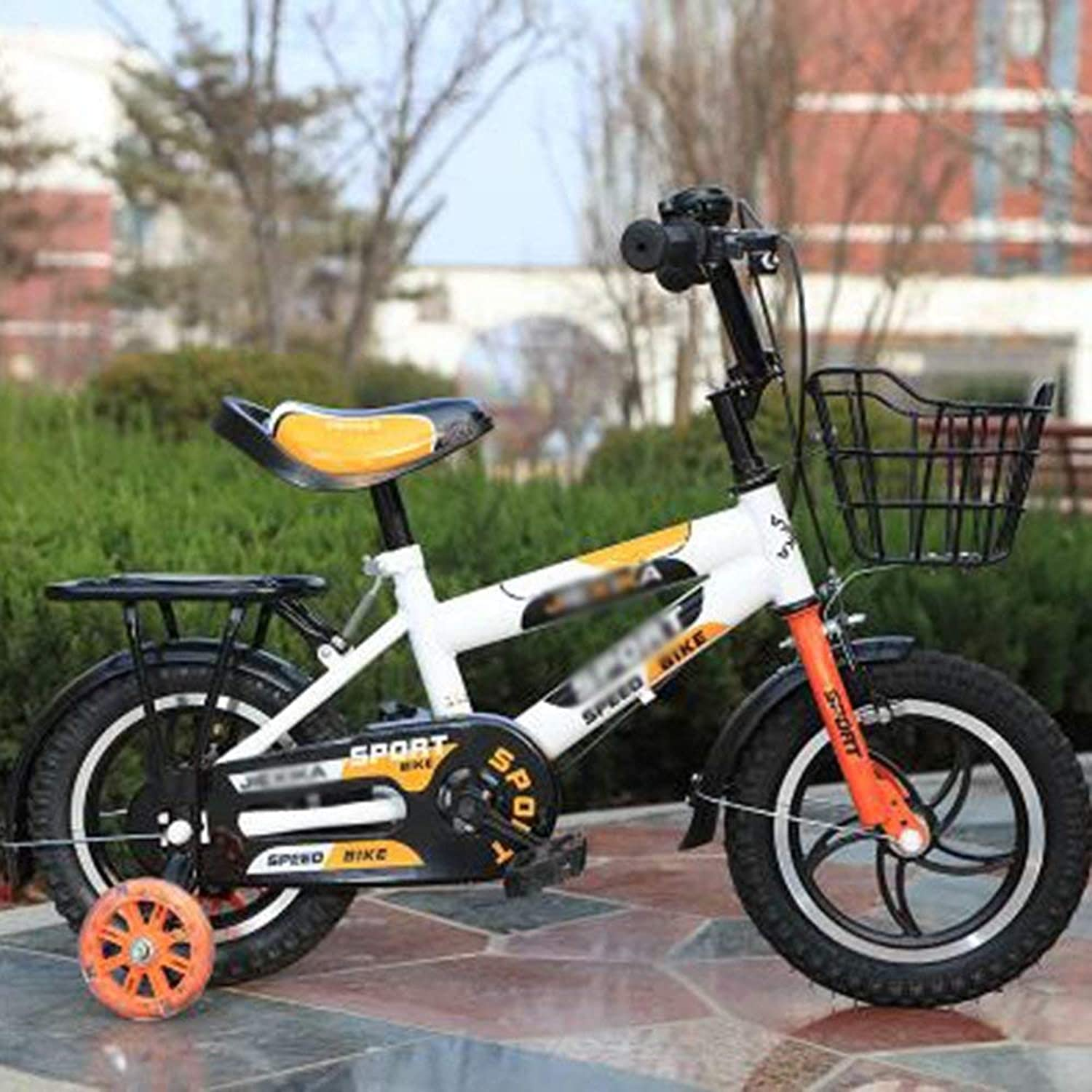 Boy's Bike with Basket, 14, 16 or 20 inch Bike with Training Wheels, Gifts for Kids, Boy's Bicycles for Newborn (color   orange, Size   14 inches)-orange,14 inches