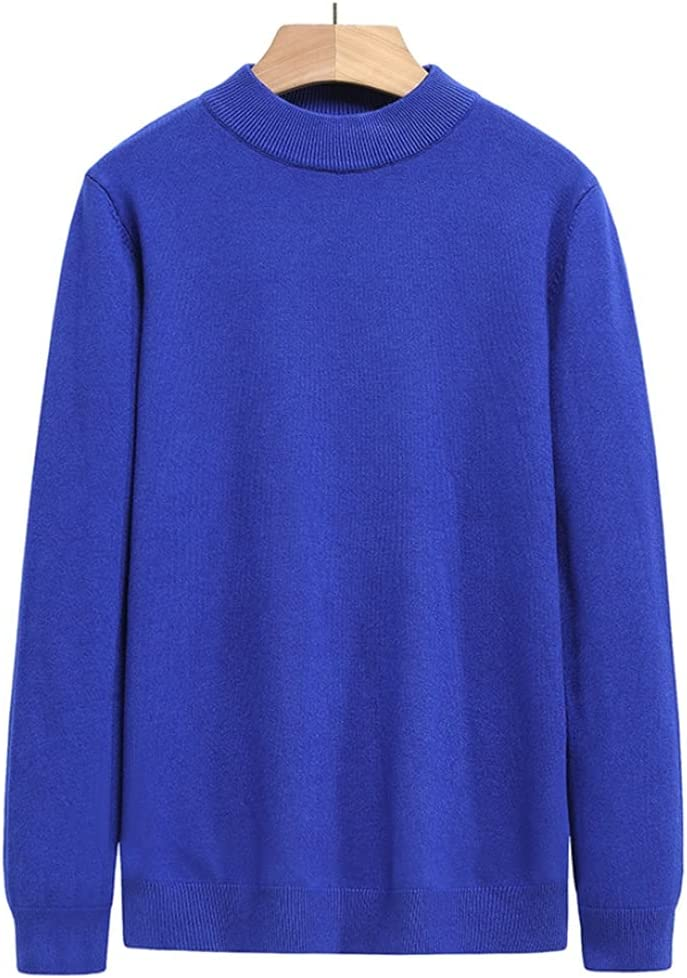 GYZX Half Turtle Neck Knitted Pullover Sweater Men Autum Winter Casual Jumper Clothes Men (Color : Blue, Size : XL Code)
