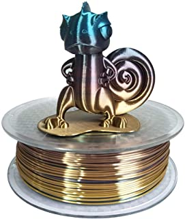 3D Printer Silk Rainbow Multicolor PLA Filamentt 1.75mm 1KG Multi Color Printing Materials Gradually Changing Color PLA Rainbow Mulitcolor Multicolored Metallic Color Gradient Filament CC3D