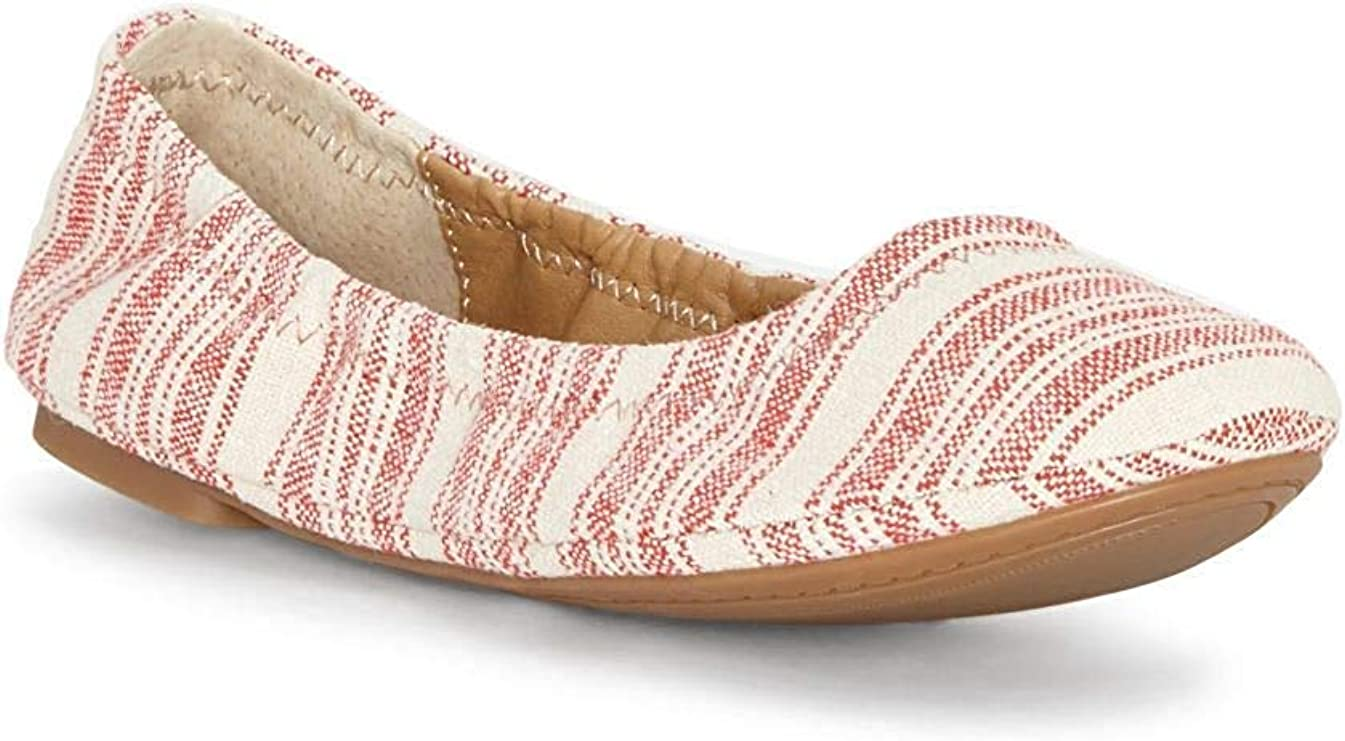Lucky Directly managed store Ranking integrated 1st place Brand Women's Emmie Ballet Stripe Red Flat