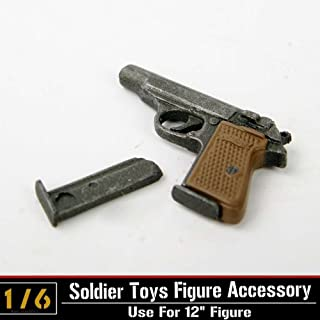 1/6 Scale Weapon Model Automatic Pistol Walther PPK Gun F 12
