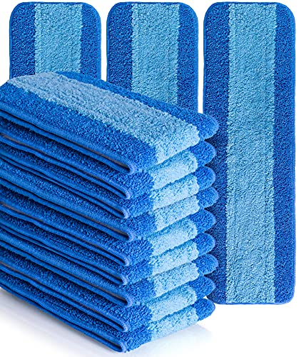 VanDuck Microfiber Cleaning Pads Compatible with Bona Mop (12 Pack) - Microfiber Mop Pads for Hardwood Floor 18 Inch Fits Rubbermaid Mop, E-Cloth Mop, Turbo Mop, and Norwex Mop