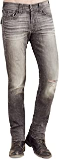True Religion Men's Hand Picked Geno Slim Jean in Worn Concrete
