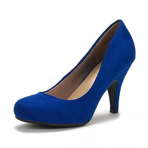 DREAM PAIRS ARPEL Berry Women s Formal Evening Dance Rhinestones Classic Low  Heel Pumps Shoes New