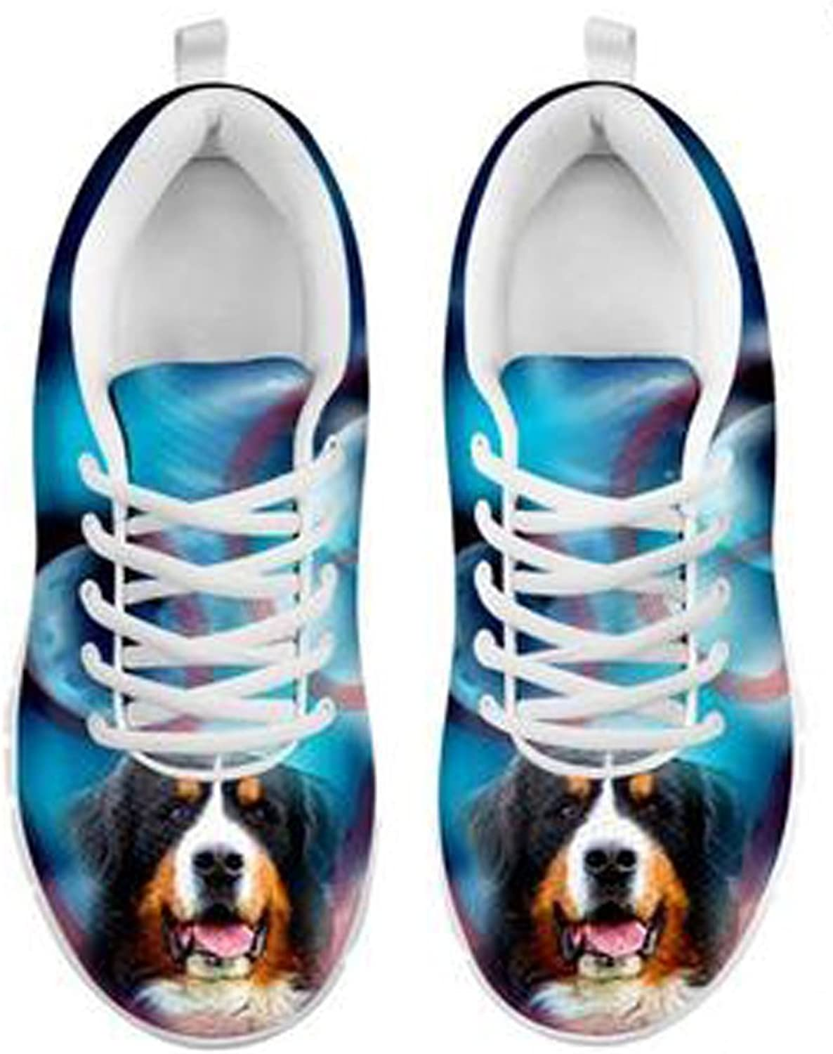 Brand Cute Bernese Mountain Dog Print Men's Casual Sneakers (11)